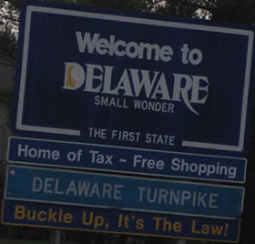 Placa entrada Delaware