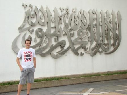 Oscar e mensagem em Arabe
