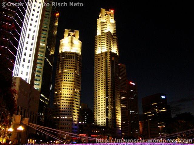 Predios no Centro Financeiro de Cingapura