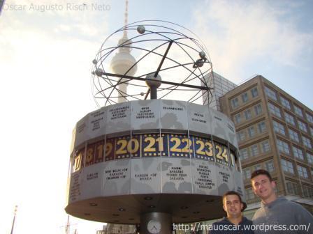 Weltuhrzeit - Relogio da hora mundial