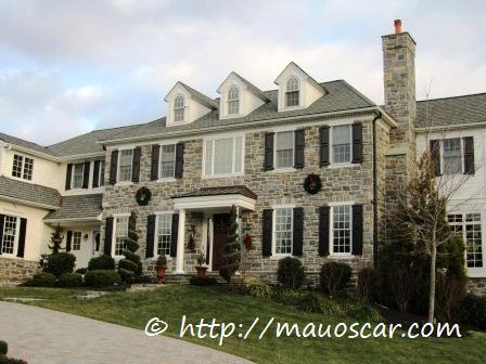 Decora o natalina casas americanas fotoblog mauoscar blog de viagens - Casas americanas por dentro ...