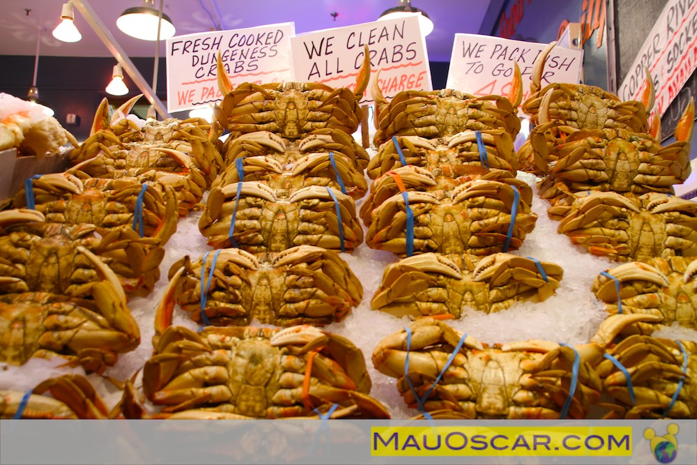 Dungeness Crab no Pike Place Market de Seattle