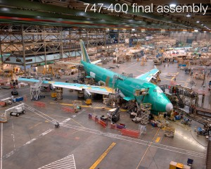 Linha de produção do 747