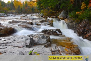 Outono em New Hampshire Kancamagus Highway Swift River