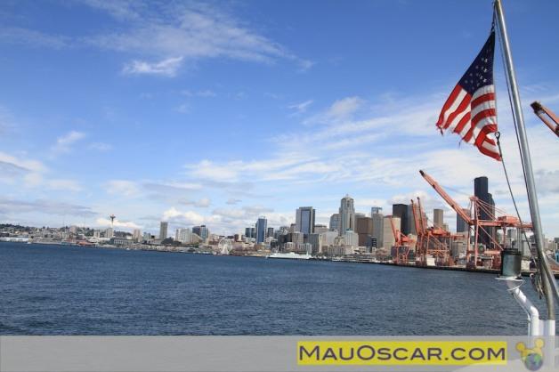 Seattle vista do passeio de barco pela Elliott Bay