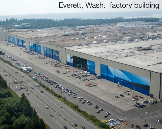 Visitando a maior fábrica de aviões do mundo Vista-ac3a9rea-da-fc3a1brica-da-boeing-em-everett-wa