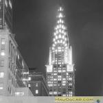 Nova York 35 Vhrysler Building a noite e em Preto e Branco