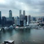Marina Bay Sands - Vista do nosso quarto