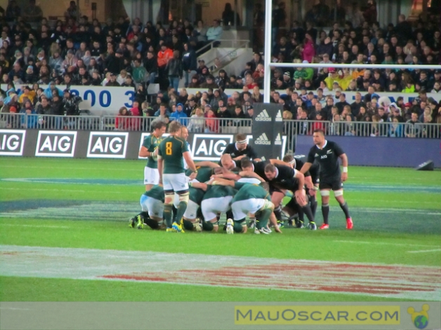 jogo entre os All Blacks e os Springboks da África do Sul